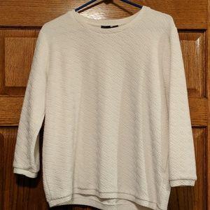 Forever 21 cream textured sweater